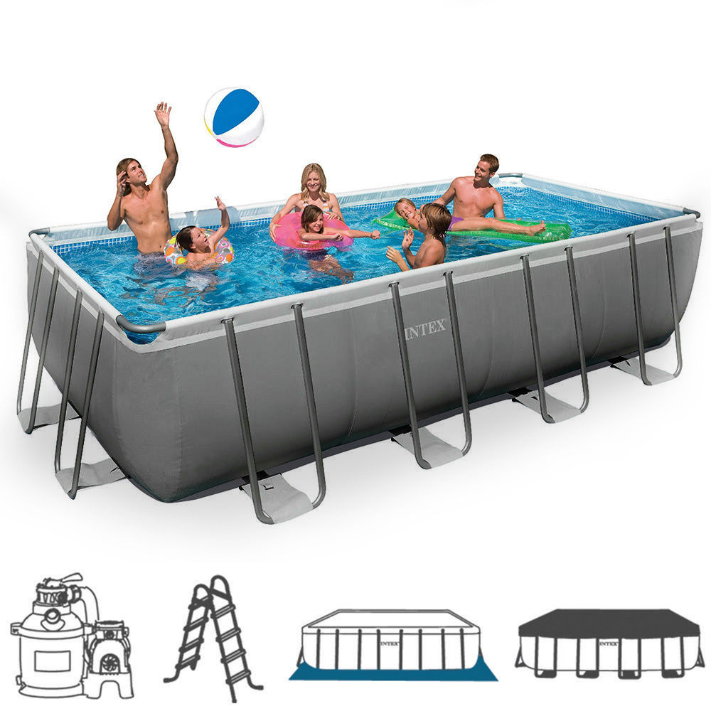 Piscina fuoriterra ultraframe rettangolare intex 28352 cm - Piscina intex 549x274x132 ...