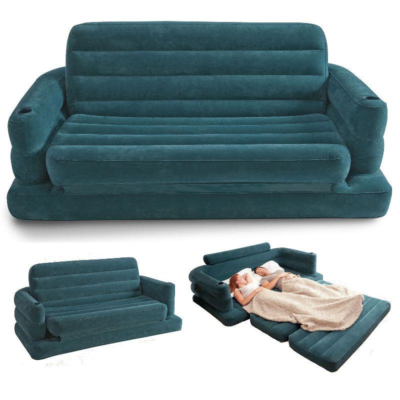 Rotex intex sofa bed materasso gonfiabile divano letto poltrona loungin 68566 ebay - Divano letto gonfiabile intex ...