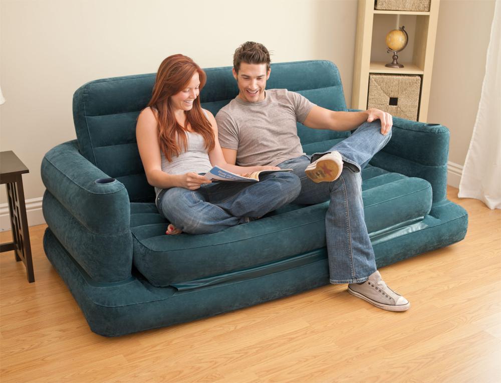 Rotex intex sofa bed materasso gonfiabile letto divano for Letti gonfiabili
