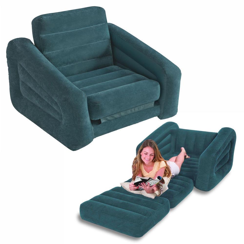 Rotex intex sofa bed materasso singolo gonfiabile divano letto poltrona 68565 ebay - Divano letto gonfiabile intex ...