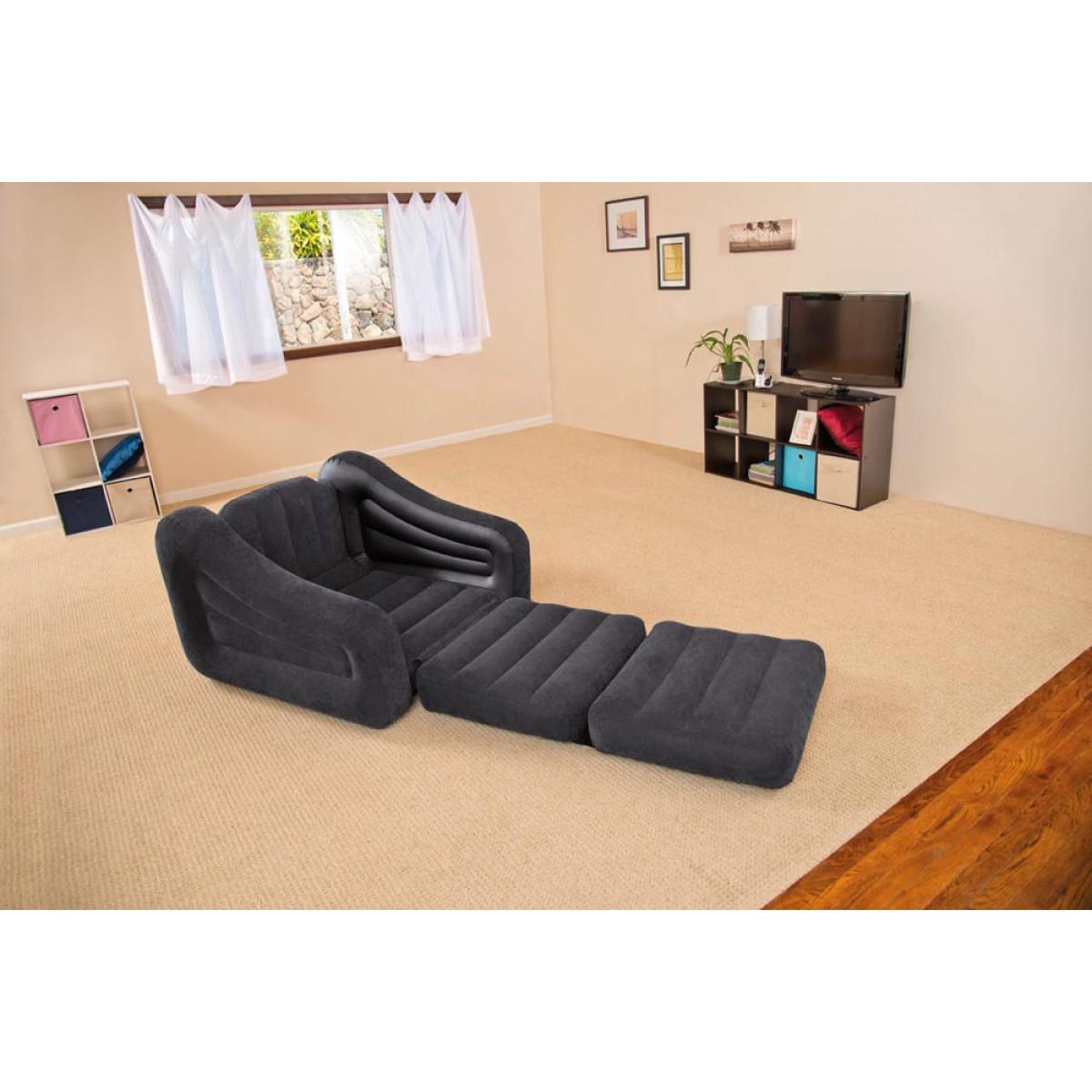 Sofa bed materasso intex gonfiabile divano poltrona 68565 for Poltrona letto