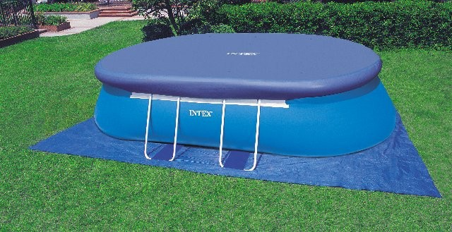 Telo copertura piscina intex ovale terminali antivento - Telo per piscina intex ...