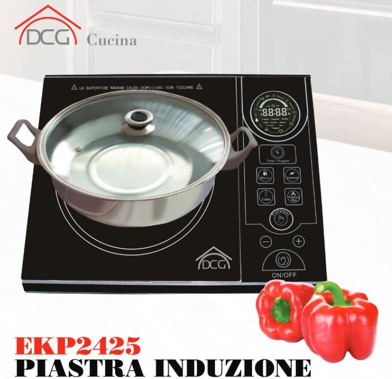 Rotex dcg piano cottura piastra cucina elettrica a induzione fornello ekp 2425 ebay - Cucina a induzione ...