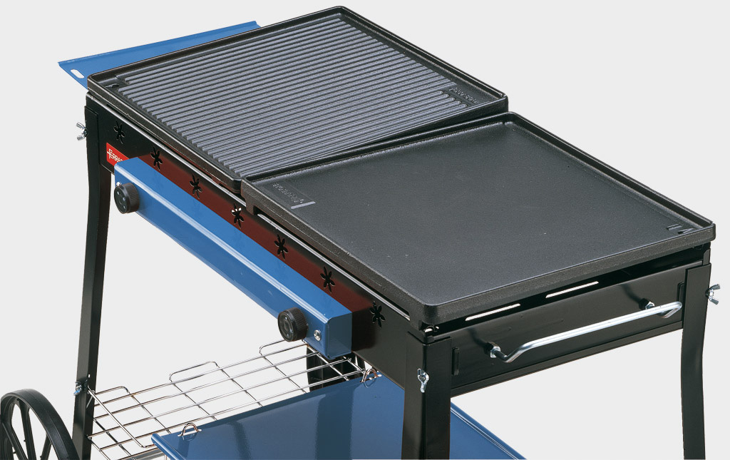 Rotex ferraboli barbecue 94 acciaio stereo ghisa gas gpl - Piastra per cucinare ...