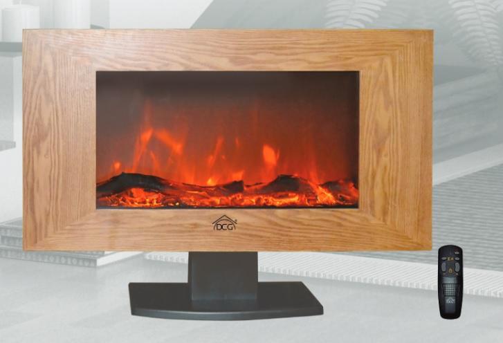 Rotex dcg caminetto elettrico stufa camino effetto legno for Stufe elettriche a basso consumo prezzi