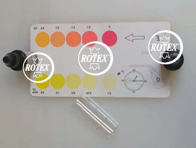 Kit test analisi acqua piscina cloro e ph piscine 10 ml rotex ebay - Test ph piscine ...