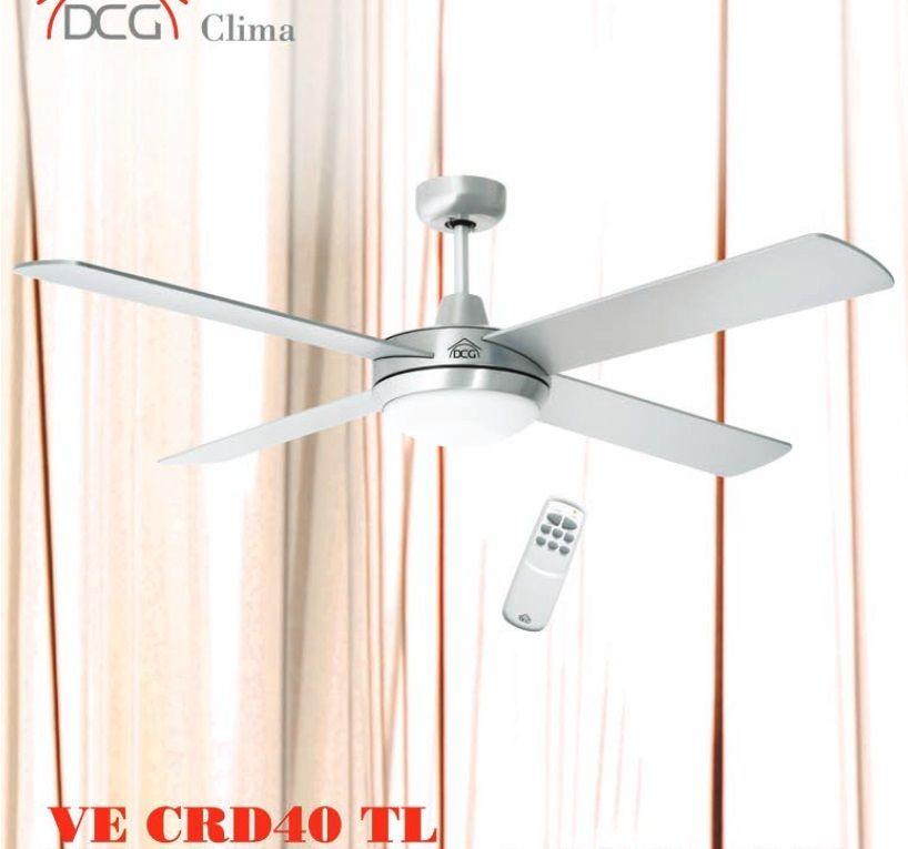 Rotex dcg ventilatore da parete soffitto con 4 pale luce - Ventilatore da parete ...